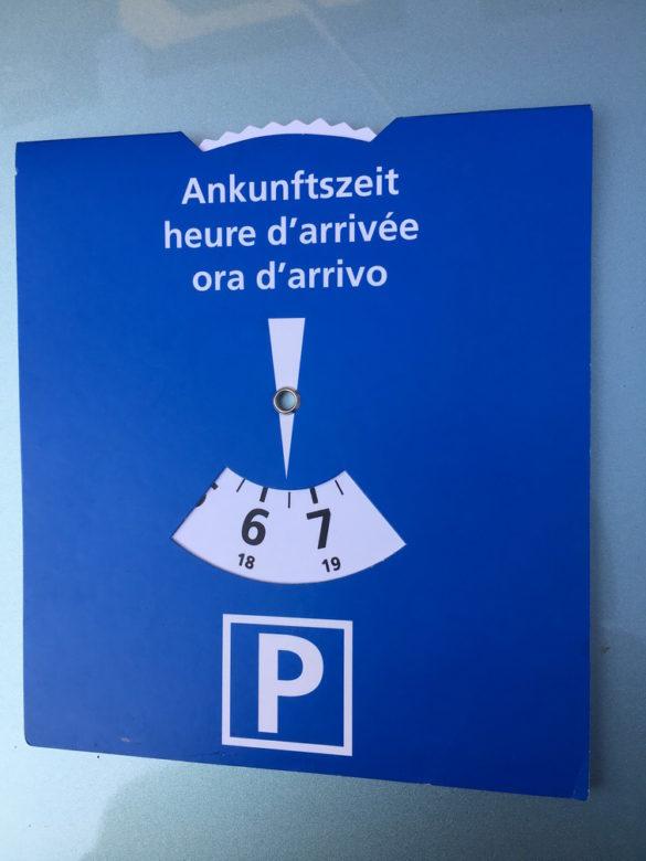 parkolás Svájcban