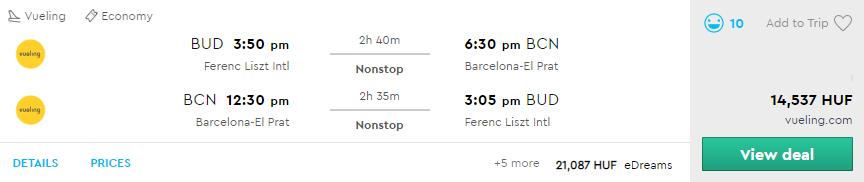 Barcelona repjegy