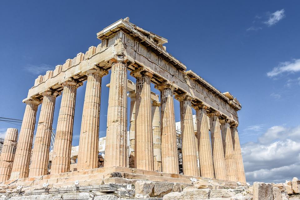 akropolisz, athén, görögország