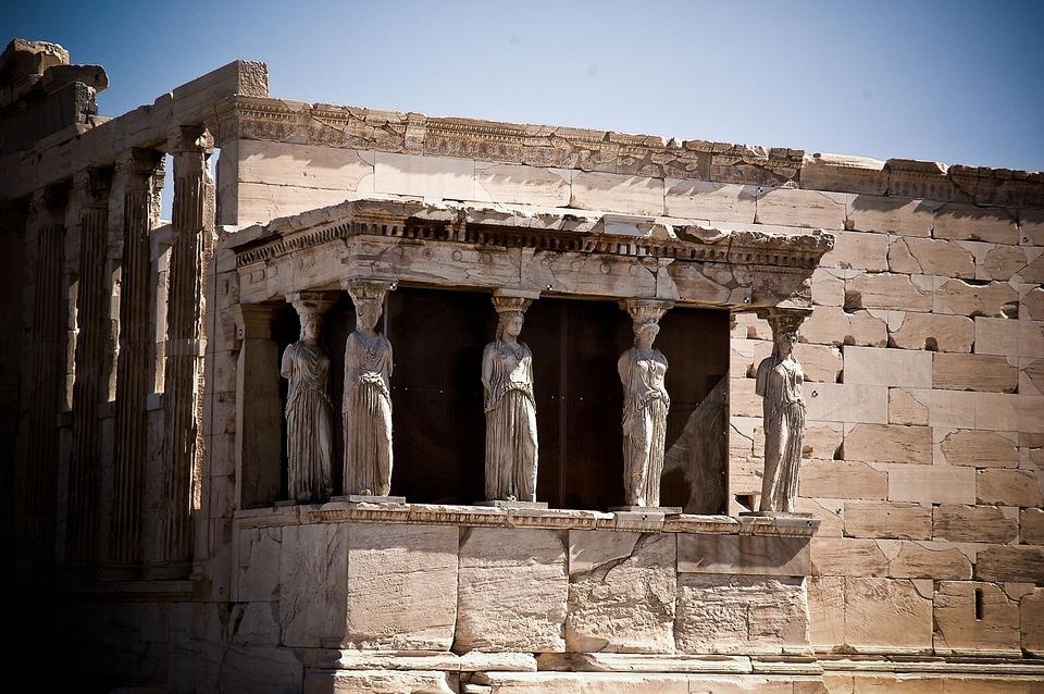 kariatidák, görögország, akropolisz