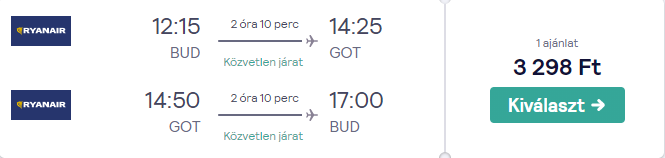 Göteborg repjegy